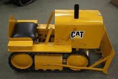 This would have been made better with tracks. Pedal Tractor, Pedal Cars, Antique Toys, Vintage Toys, Cat Bulldozer, Farm Kids, Kids Ride On, Toy Trucks, Go Kart