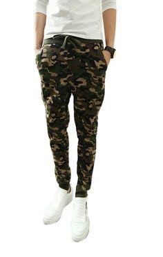 Demetory Hombres Lo nuevo camuflaje llegada militares Casual Harem, XL