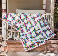 Moda Simply Colorful II by V & Co. Fabric & Serendipity Pattern Quilt Kit - White