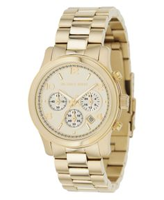 Michael Kors Watch, Women's Chronograph Runway Gold Tone Stainless Steel Bracelet 38mm MK5055 - All Watches - Jewelry & Watches - Macy's