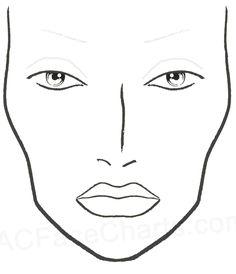 Blank Mac Face Charts Printable More