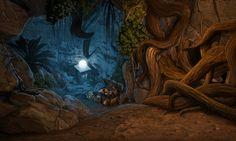 #Game #gameart #gaming #gamedev #gamedevelopmentart #madheadgames #art #artwork  #tree  #root #cave #insidethecave #nature