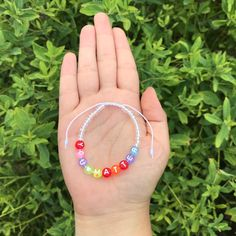 Word Bracelets, Beaded Bracelets, Letter Beads, You Matter, Nifty, Seed Beads, Christmas Crafts, Bubbles, Color