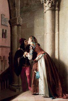 A. Aureli, XIX century, Marguerite and Faust, 1865
