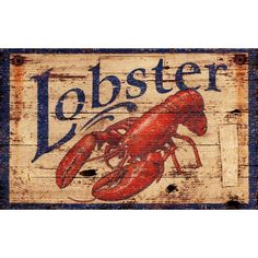 Red Horse Signs LLC Vintage Lobster Sign -- ships by 10/15