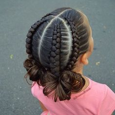Frisuren geflochtene schwarze Frisuren 61 Ideen Hairstyles braided black hairstyles 61 ideas Little Black Girl Best Black Braided HaiKids Braided Hairstyles W Lil Girl Hairstyles, Girls Natural Hairstyles, Kids Braided Hairstyles, Princess Hairstyles, School Hairstyles, Wedding Hairstyles, Braided Ponytail, Everyday Hairstyles, Bun Hairstyles