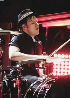 """""""PATRICK PLAYING THE DRUMS IS MY SEXUALITY"""" I'm just going to leave the last person's caption on here."""