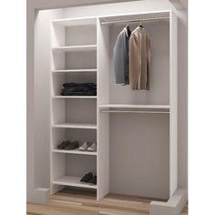 New Belle W Closet System by Rebrilliant storage-sale. offers on top store Mini Closet, Closet Rod, Closet Shelves, Master Closet, Closet Bedroom, Closet Storage, Bathroom Closet, Storage Room, Mini Dressing