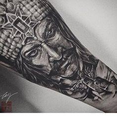 Wolf Tattoos, Hand Tattoos, Tatoos, Wolf Tattoo Sleeve, Sleeve Tattoos, Horror Tattoos, Clown Tattoo, Classic Tattoo, Sailor Jerry