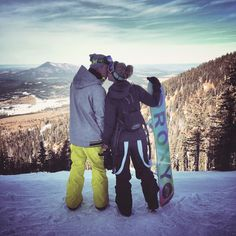 Snowboarding couple, just like me and my husband <3
