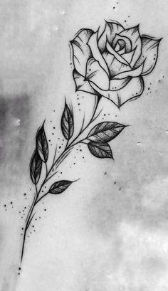 200 Fotos de tatuagens femininas no braço para se inspirar – Fotos e Tatuagens - Flower Tattoo Designs 44 einzigartige Tattoo-Ideen für Frauen Tattoo Design Drawings, Cool Art Drawings, Pencil Art Drawings, Art Drawings Sketches, Rose Drawings, Rose Drawing Tattoo, Tattoo Sketches, Drawing Of A Rose, Unique Drawings