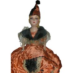 Rare Vintage All Original Halloween Boudoir Bed Doll Flapper Dolls