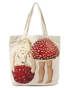 Mushrooms · Dollpt Tote AHCAHCUM.muchacha Disney of (Achachumu muchacha Disney.) (Tote bag) | detail image