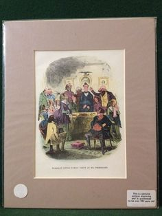 4x Antique Charles Dickens Martin Chuzzlewit Hand Coloured Book Illustrations