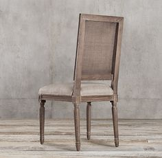 Wonderful RHu0027s Vintage French Square Cane Back Fabric Side Chair:Weu0026#39;ve Reproduced