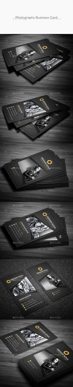 Photography Business Card - Creative Business Card Template PSD. Download here: http://graphicriver.net/item/photography-business-card/11891369?s_rank=1782&ref=yinkira