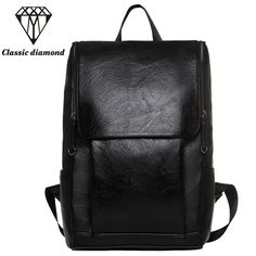 2017 Men High Quality PU Leather Business Backpacks Fashion School Backpacks For 15.6 inch Laptop Casual Travel Bags Mochila