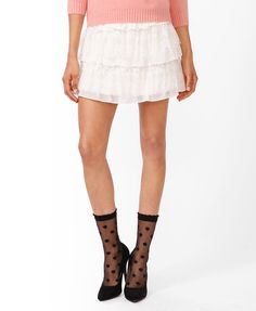 Lace Tiers Miniskirt | FOREVER21 - 2045003308