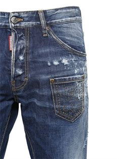 JEANS COOL GUY DE DENIM LAVADO Y DESGASTADO 16.5CM