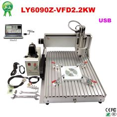 1750.00$ Watch here - alixj3.worldwells... - USB PORT cnc 6090 3 Axis CNC Router 3D cnc wood carving machine with 2200W water cooled spindle cnc lathe machine
