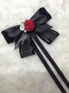 Details about Fashion Women Girls Rose Flower Pearls Hairband Ponytail Holder Hair Band Wedding Hair Accessories, Fashion Accessories, Fashion Jewelry, Tie Crafts, Tie Styles, Ribbon Work, Clothes Crafts, How To Make Bows, Fabric Flowers
