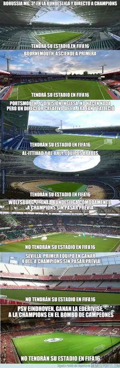 Futbol de Locura: Meme del Día: EA y su lógica para escoger los nuevos estadios en FIFA 16