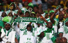 Nigeria fans cheer during the 2014 FIFA World Cup Brazil Group F match between Iran and Nigeria at Arena da Baixada on June 16, 2014 in Curitiba, Brazil