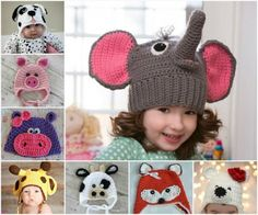 Free Animal Crochet Hats