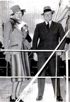 Crown Prince Olav and Crown Princess Martha of Norway, née Princess Martha of Sweden, in America 1939