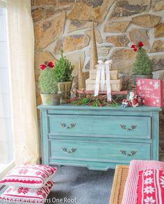 Decorating our entry way with rosemary Christmas trees + home tour