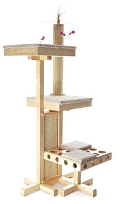 Eco-friendly Cat Tower with More Activities Than Disneyland