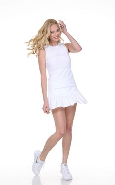 Image result for L'etoile pleated skort with textured lace