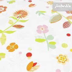 jubelis® Tischbelag Wachstuch Rollen Denise gelb für Heim und Garten