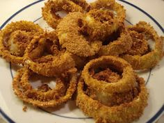An Organic Wife: Recipe: Baked Onion Rings Raw Food Recipes, Vegetable Recipes, Appetizer Recipes, Italian Recipes, Baking Recipes, Appetizers, Vegetable Sides, Meal Recipes, Healthy Recipes