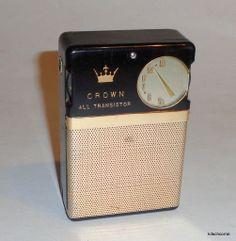 Vintage Crown All Transistor Radio Portable Model TR 33 | eBay