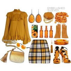 How To Wear We Are Golden-Top Set Outfit Idea 2017 - Fashion Trends Ready To Wear For Plus Size, Curvy Women Over 20, 30, 40, 50