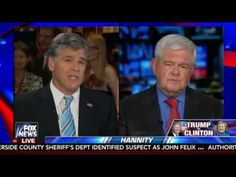 Newt Gingrich Reacts to 2nd Trump-Clinton Debate: Hillary Was Rattled! - YouTube