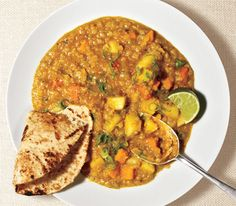 Red Lentil Curry, I made this for dinner this week and it was a hit. I substituted cauliflower for potatoes as a more low carb option. We will definitely make this again.