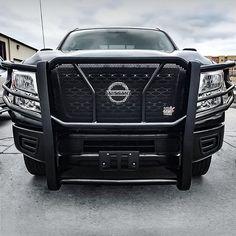 Front End Friday Black Powder Coat HDX Grille Guard Shop: @autodefstillwater  Transform your truck or Jeep on westinautomotive.com #westinautomotive #nissantitan #nissan #nissantitanxd #liftedtruck #nissantitanpro4x #titanxd #customtrucks #customtruck #liftedtrucks #offroaders #offroadtrucks #trucking #4x4 #4x4offroad #4x4trucks #nastytrucksnation #newtruck #offroaddynasty #newtrucks Nissan Trucks, 4x4 Trucks, Custom Trucks, Lifted Trucks, 2018 Chevy Silverado, Nissan Titan Xd, Grill Guard, 4x4 Off Road, Black Friday