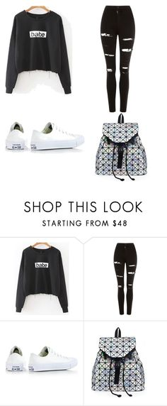 """Untitled #14"" by nesiv ❤ liked on Polyvore featuring Topshop and Converse"