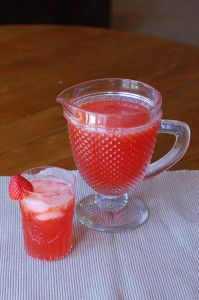 Strawberry Lemonade! Make it from scratch. It is so easy and so delicious! Perfect summertime beverage!