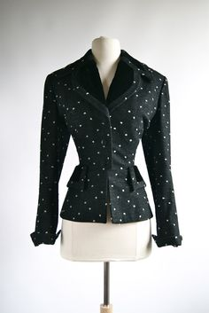 Vintage 40s Lilli Ann Fitted Jacket  Vintage by xtabayvintage