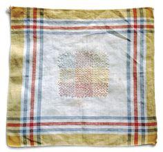 Darned handkerchief | Stitch details | rosapomar: Anu Tuominen/121