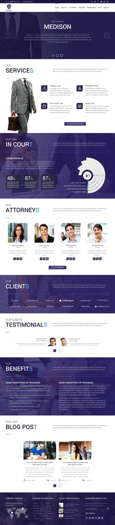 MyLawyer is the ultimate WordPress theme for Lawyers, Law Agencies and other similar businesses. With its Bold design, and look that create trust, its a best fit for the Law Industry.