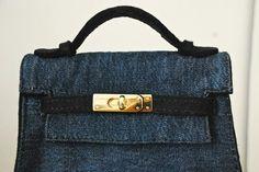 Kelly bag wool felt handmade