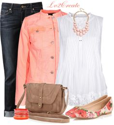 """""""Bright Denim Jacket"""" by lv2create on Polyvore"""