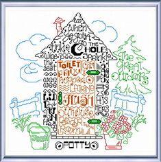 (^_^) $5.99 download pattern - Lets go Potty - cross stitch pattern designed by Ursula Michael. Category: Words.
