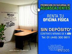 LISTAS LAS OFICINAS EN AGUASCALIENTES AHORA EN PROMOCIÓN  Te ofrecemos lo mas completo en espacios destina ..  http://zapopan.evisos.com.mx/listas-las-oficinas-en-aguascalientes-ahora-en-promocion-id-617777