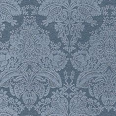 Cape Damask #fabric in #navy from the Tidewater collection. #Thibaut