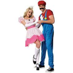 Adult Princess Peach Costume Deluxe - Super Mario Brothers | Fantasias | Pinterest | Princess peach costume Peach costume and Princess peach  sc 1 st  Pinterest & Adult Princess Peach Costume Deluxe - Super Mario Brothers ...